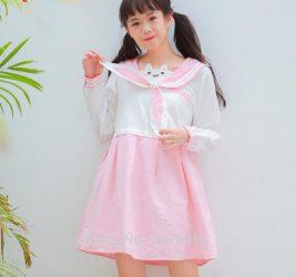 pastel cute pink cat dress aesthetic ear wishlist