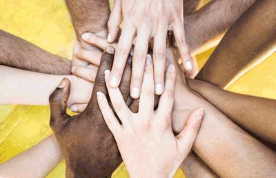 anti-racism hands