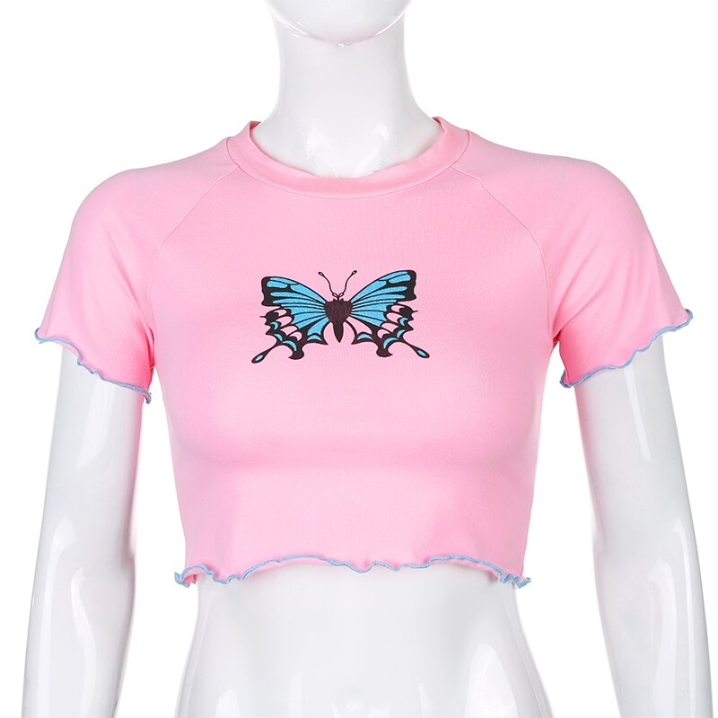 Tshirts Butterfly Print