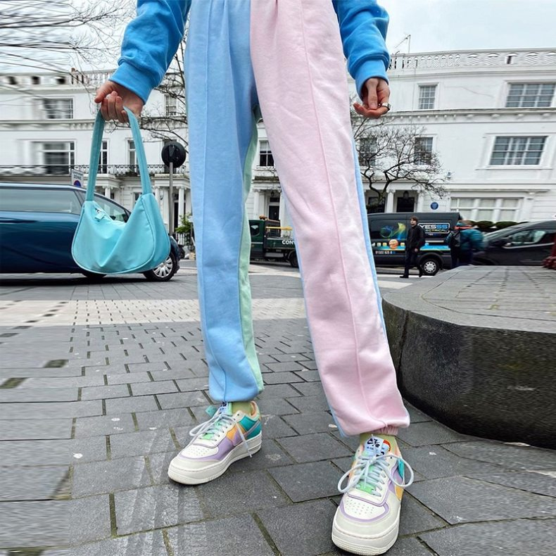 Pastel Sweatpants Elastics High Waist