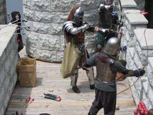 Combat archery from parapet