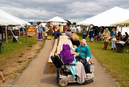 The food court at Pennsic. Photo by Master Augusto Giuseppe da San Donato