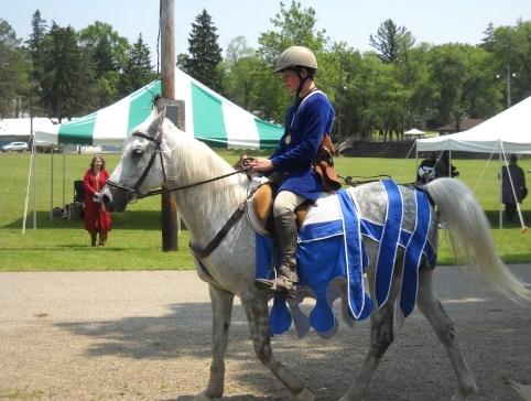 Horse Barding Fashion Show (Photo credit: Mistress Hilderun)
