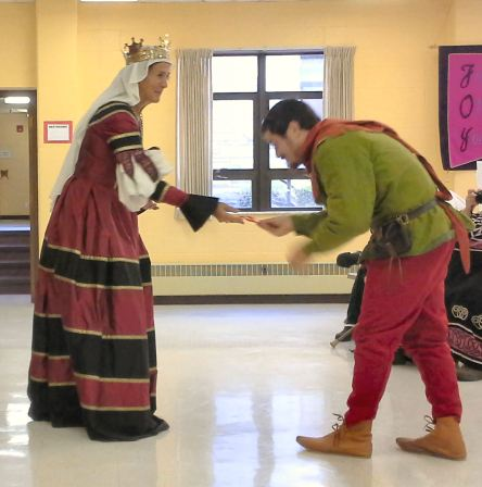 Lord Baline inspires the Queen.