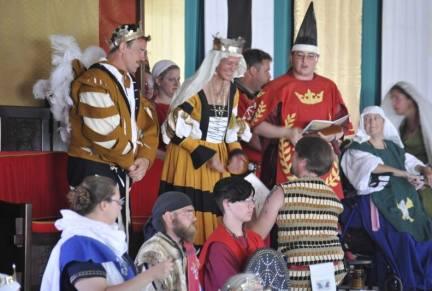 THL Jussi Laplein receiving his Cornelian. Photo by Baron Steffan Wolfgang von Ravensburg.