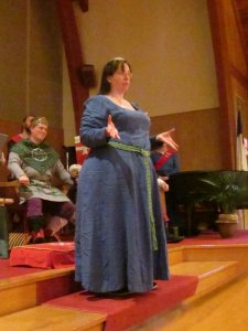 Lady Fenris McGill gives thanks.