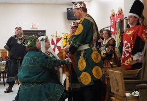 Magnus and Miriel give their oath as new Baron and Baroness.