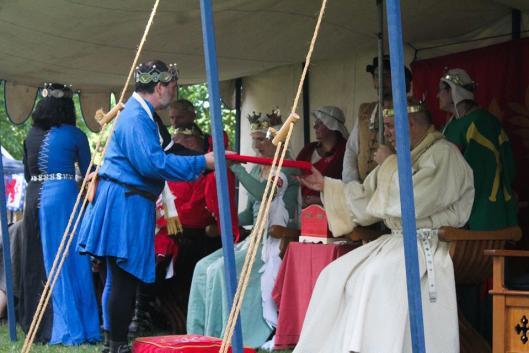 Iago and Emilia presentation to Crown