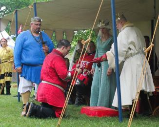Duke Timothy is proclaimed Kingdom heavy weapons Champion. Photo by Jinx.