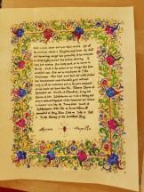 Scroll by THL Máirghréad Stíobhard inghean uí Choinne
