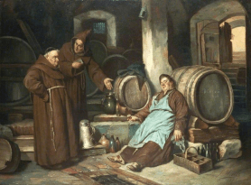 Monks in Cellar