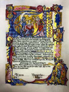Kingdom A&S Champion scroll. Photo by Master Orlando.