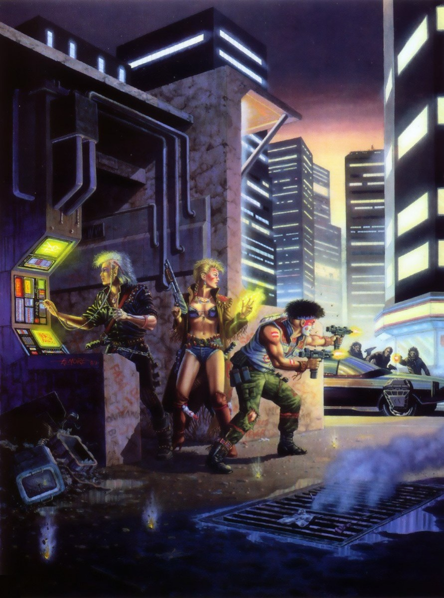 Throwback Thursday Shadowrun 1st Edition Cover By Larry Elmore 1989 Aethereal Engineer