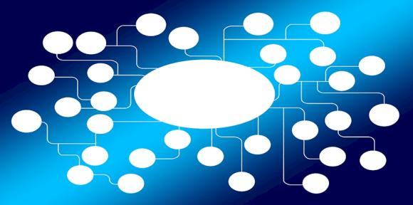 abstrakte MindMap als Symbolbild: Konkretisierung der beruflichen Handlungsfähigkeit