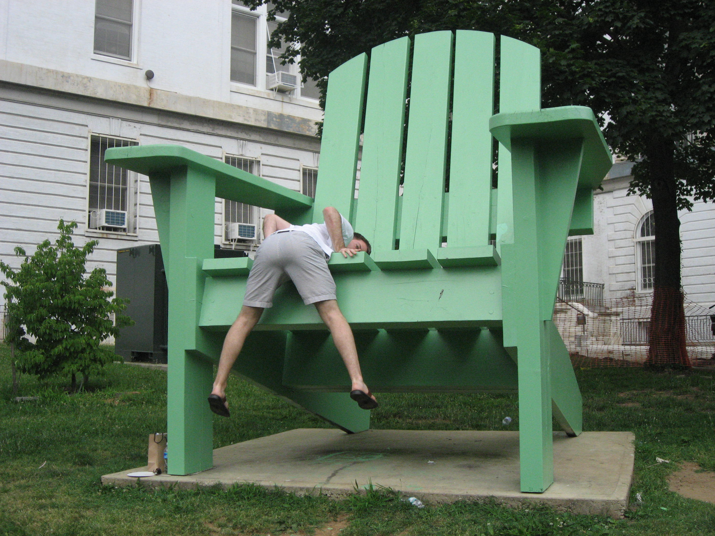 huge lawn chair office chairs phoenix the awesome foundation birthday
