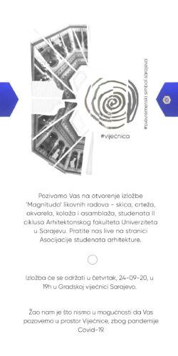 Pozivnica Magnitudo izložba likovnih radova