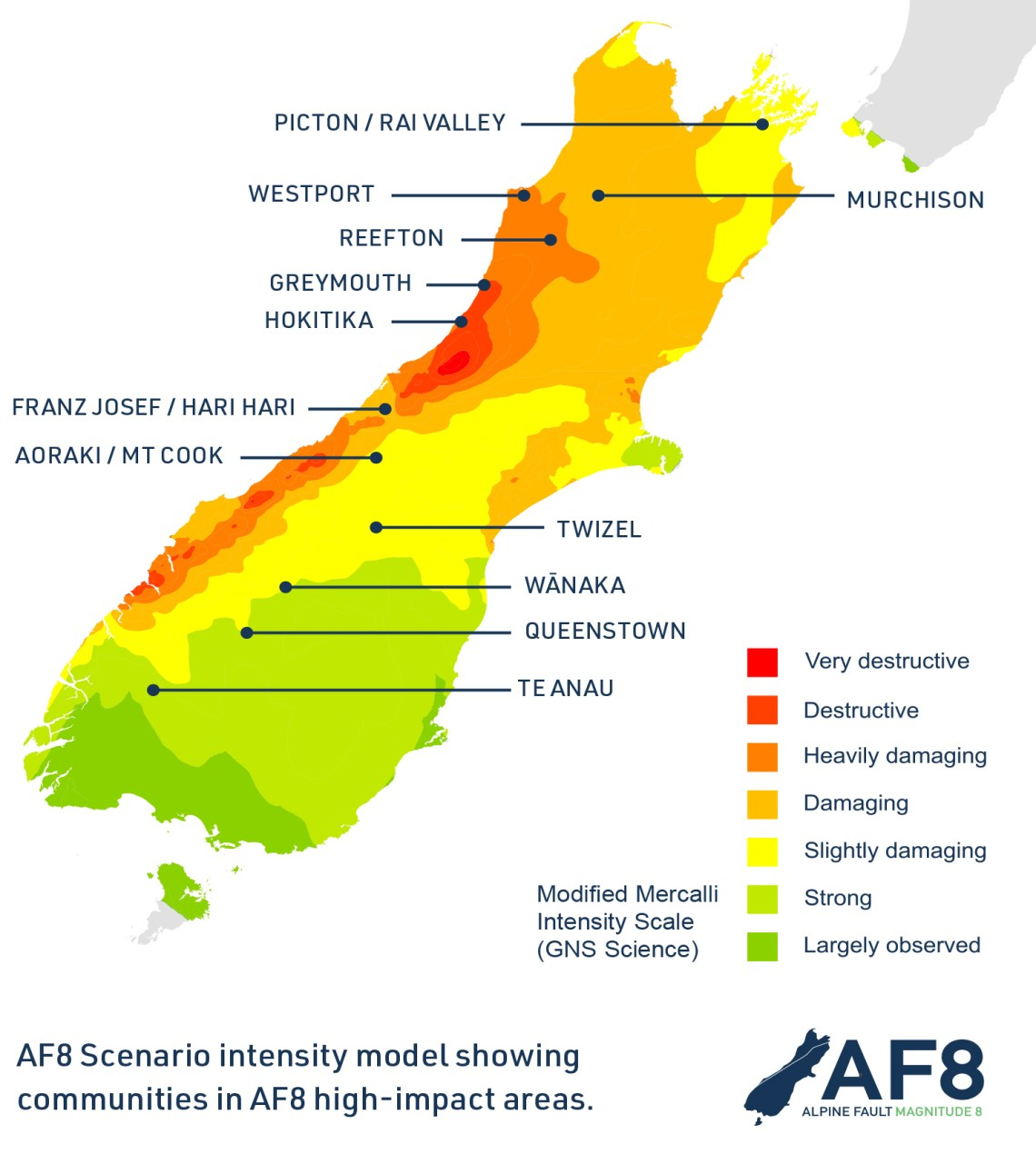 AF8 Roadshow Intensity Map