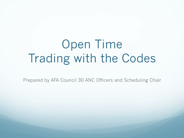OT Trading with the Codes 1 of 6