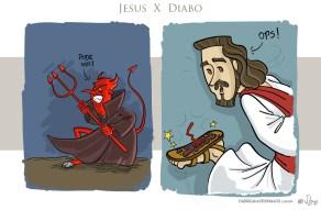 Simplesmente Jesus 03 diabo charge cartoon jlima