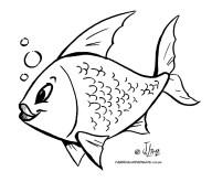desenho colorir peixe peixinho