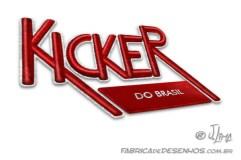 Novo logo Kicker em bordado.
