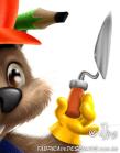 castor mascote personagem construcao obra pedreiro Beaver mascot character construction mason work by j.lima 2