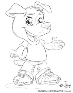 mascot design mascote personagem character desenho dog cao cachorro cachorrinho tenis jeans fofinho empresa loja logo roupas ilustracao cartoon cartum j. lima 6