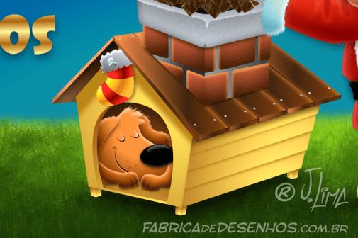merry-christmas-good-card-parties-gift-mascote-mascot-design-character-personagem-dog-cachorro-cao-natal-presente-cartao-desenho-2016-illustration-santa-claus-papai-noel-casinha-house