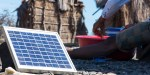 Solar energy in an African village