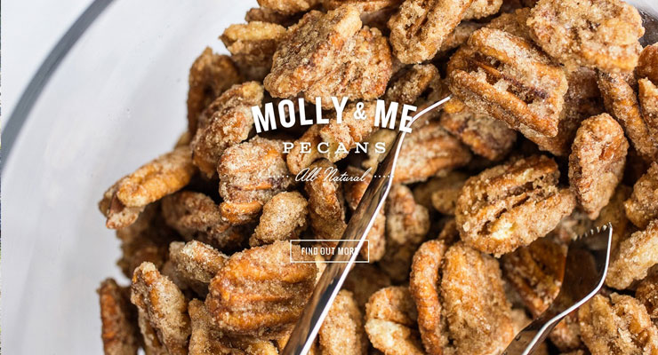 Website E-Commerce Molly & Me Pecans