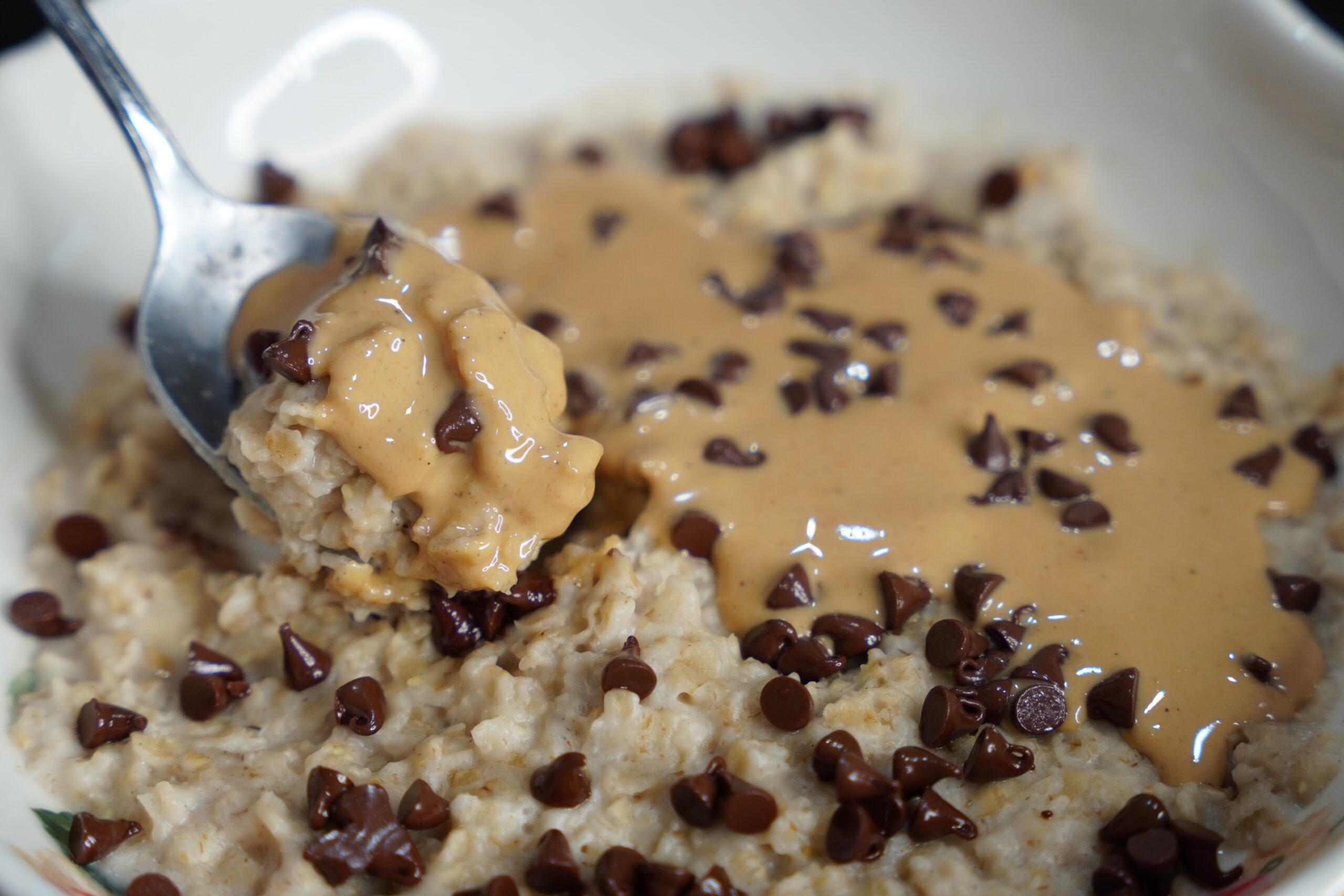 cookie dough oatmeal 2 minute microwave oatmeal