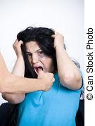man hits woman