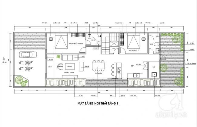 Tư vấn thiết kế căn nhà 7x20m ở vùng thôn quê với chi phí 200 triệu đồng - Ảnh 2.