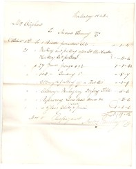 Kirkcaldy 1843. Mrs Oliphant, to Andrew Fleming & Co. October 1st - [...] [...]. (total) £3/19/0 1/2.