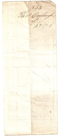 1843, Tho[mas] Dryburgh, £2/17/5.