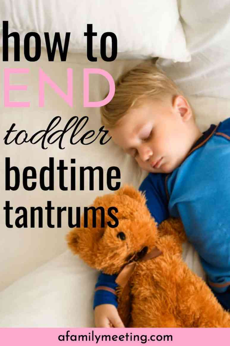Ending bedtime battles and power struggles with your 2, 3, or 4 year old is necessary for everyone to get the sleep they need. Defeat toddler bedtime tantrums with these bedtime tips training and routine. #bedtimetantrums #toddlerbedtime #bedtimestruggle #bedtimepowerstruggle #toddlersleepingtips #3yearoldbedtimeproblems #2yearoldbedtimeproblems