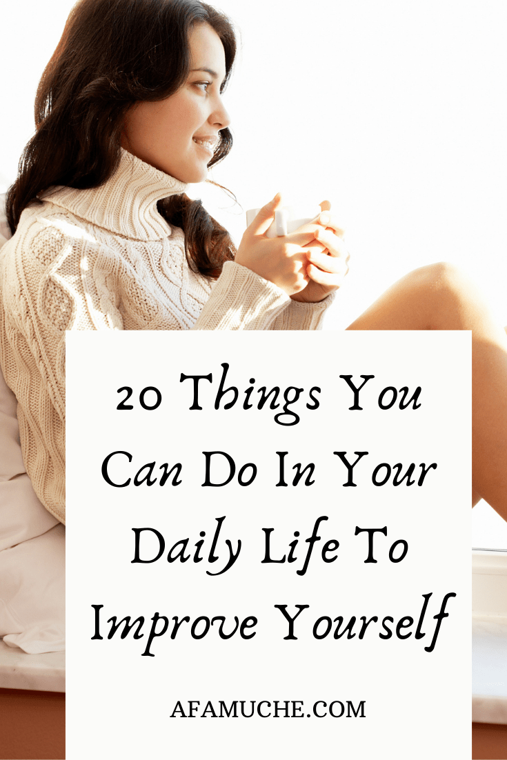 To do yourself things to improve How to