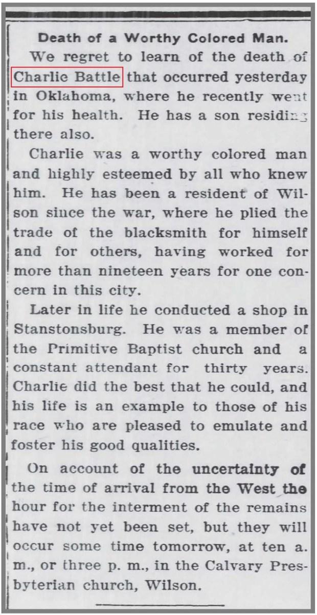 Wilson_Daily_Times_9_16_1910_Charlie_Battle_death