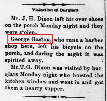 Elm City Elevator 2 28 1902 Gaston bicycle stolen
