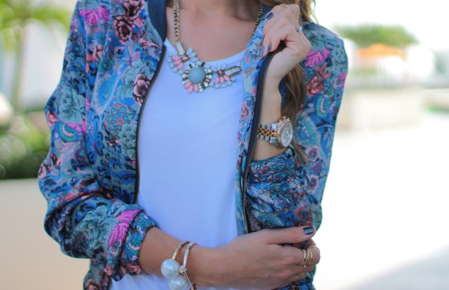 amanda tur, a fancy affair blog, fashion, fashion blogger, miami, street fashion, fall 2014, zara, stylemafia, boyfriend jeans, floral bomber jacket
