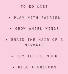 To Do List for Little Girls