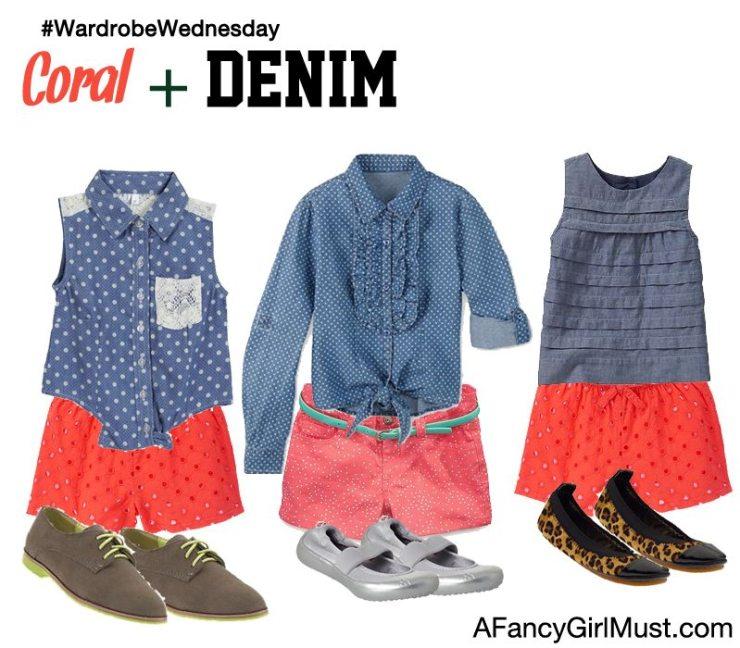 #WardrobeWednesday: Coral + Denim   AFancyGirlMust.com