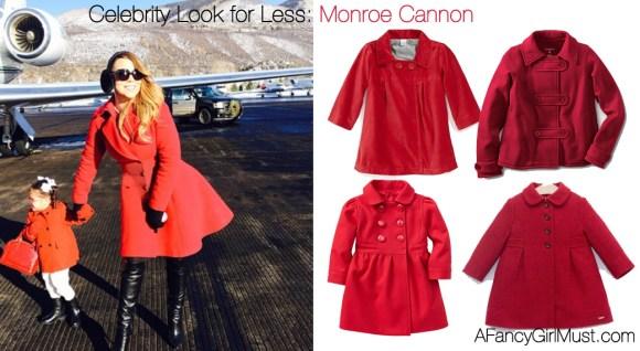 Celebrity Kids Look for Less: Monroe Cannon's Red Coat | AFancyGirlMust.com