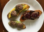 "Eggless Brunch: Johnsonville Sausage Sweet Potato ""Toast"""