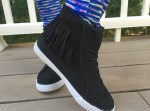 FabKids Black Fringe High Tops