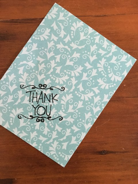 DIY Stamped Thank You Cards