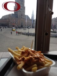 Belgians do quality chips. Twice fried in animal fat with a choice of about 15 sauces. 8 out of 10.