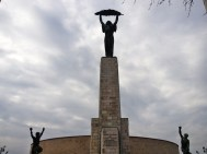 """Liberty monument. Ironically erected to celbrate the Soviet """"liberation"""" from the Nazis. The Soviets then oppressed Hungary for 42 years, even shelling the city with tanks from this spot during one failed revolution."""