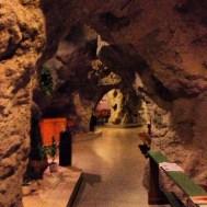 Cave church. A church, in a cave.