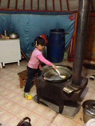 Kids are much more independent, we got some strange looks when we all gasped as the little girls came in and started pouring cups of tea using boiling water, or washing up over the hot stove. This is just normal here, as its necessary for kids to get stuck in at an early age.